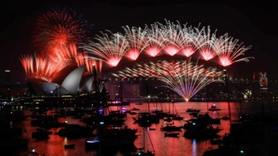 2016 NYE Harbour bridge